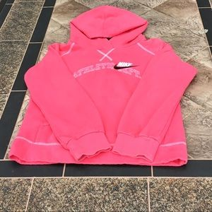 Nike Sz Large pink hooded sweatshirt